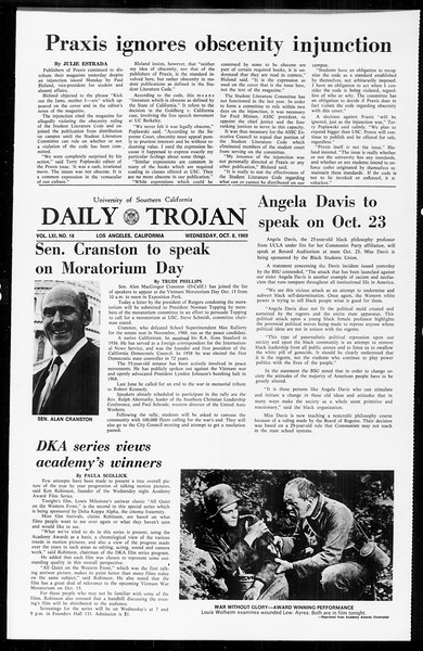 Daily Trojan, Vol. 61, No. 18, October 08, 1969