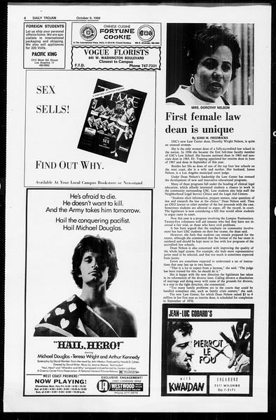 Daily Trojan, Vol. 61, No. 19, October 09, 1969