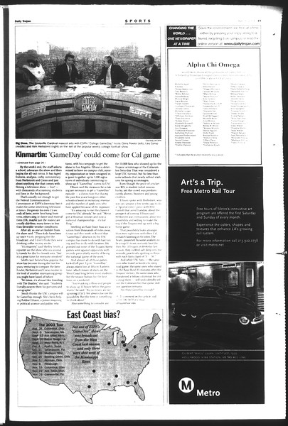 Daily Trojan, Vol. 151, No. 52, April 08, 2004