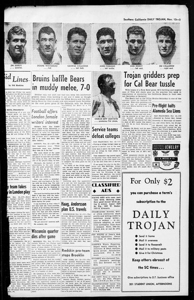 Daily Trojan, Vol. 36, No. 5, November 13, 1944