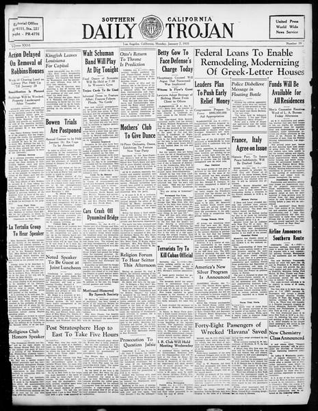 Daily Trojan, Vol. 26, No. 59, January 07, 1935