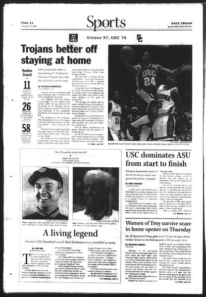 Daily Trojan, Vol. 151, No. 22, February 13, 2004