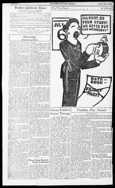 Southern California Trojan, Vol. 13, No. 5, July 03, 1934