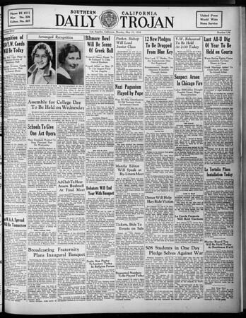 Daily Trojan, Vol. 25, No. 139, May 21, 1934