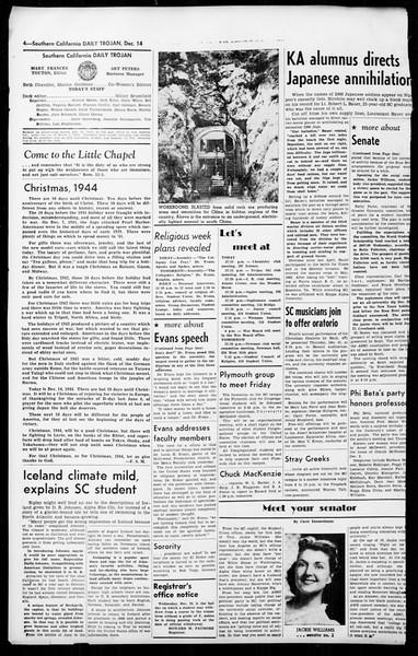 Daily Trojan, Vol. 36, No. 27, December 14, 1944