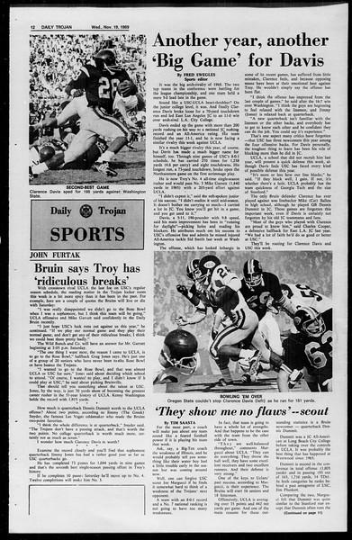 Daily Trojan, Vol. 61, No. 47, November 19, 1969