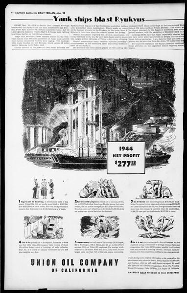 Daily Trojan, Vol. 36, No. 88, March 28, 1945