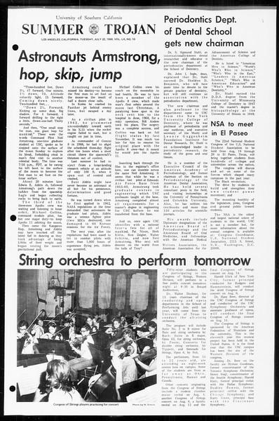 Summer Trojan, Vol. 60, No. 10, July 22, 1969