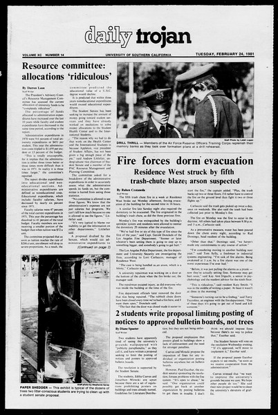 Daily Trojan, Vol. 90, No. 14, February 24, 1981