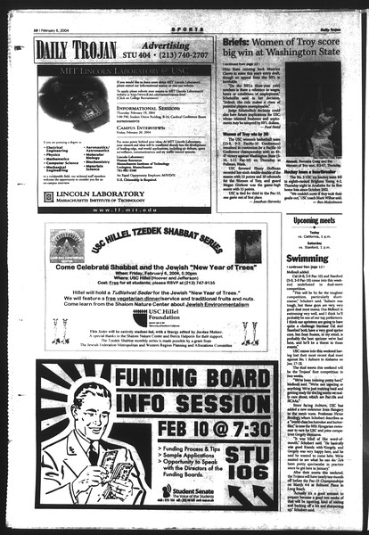 Daily Trojan, Vol. 151, No. 17, February 06, 2004