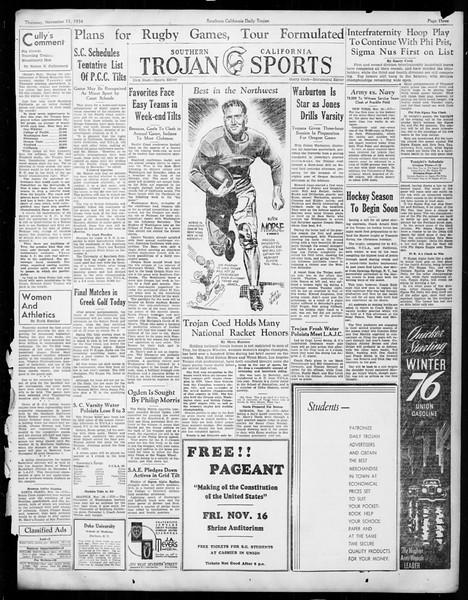 Daily Trojan, Vol. 26, No. 38, November 15, 1934