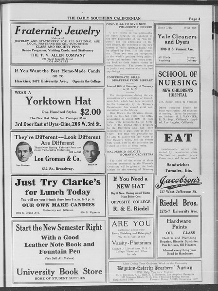 The Daily Southern Californian, Vol. 4, No. 1, February 10, 1914