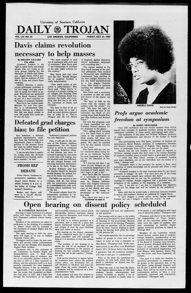 Daily Trojan, Vol. 61, No. 35, October 31, 1969