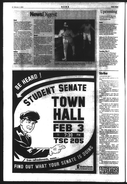 Daily Trojan, Vol. 151, No. 13, February 02, 2004
