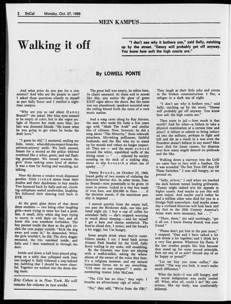 SoCal, Vol. 61, No. 31, October 27, 1969