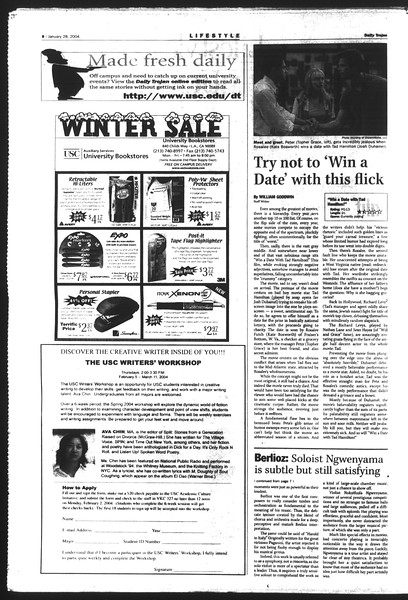 Daily Trojan, Vol. 151, No. 10, January 28, 2004