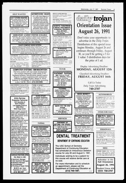 Summer Trojan, Vol. 115, No. 10, July 17, 1991