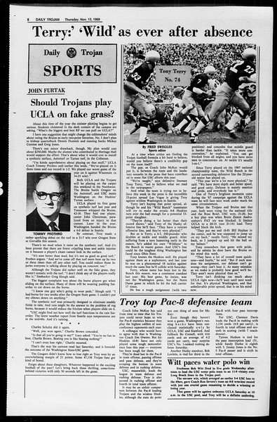 Daily Trojan, Vol. 61, No. 43, November 13, 1969