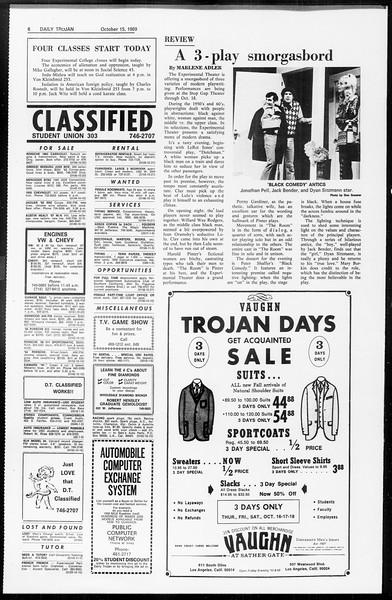 Daily Trojan, Vol. 61, No. 23, October 15, 1969