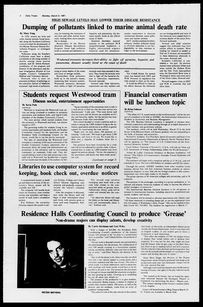 Daily Trojan, Vol. 90, No. 22, March 09, 1981