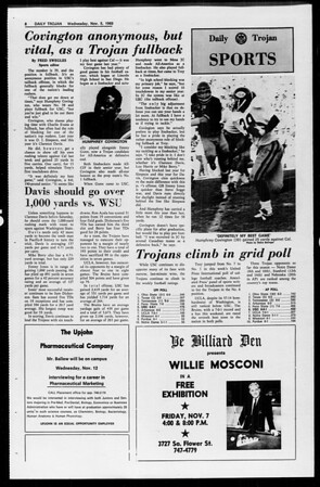Daily Trojan, Vol. 61, No. 37, November 05, 1969