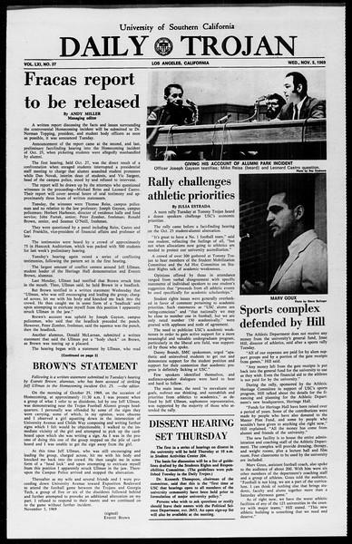 Daily Trojan, Vol. 61, No. 37, November 05, 1969