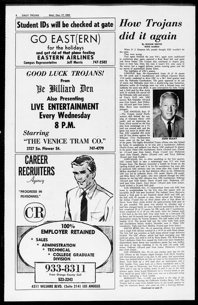 Daily Trojan, Vol. 61, No. 61, December 17, 1969