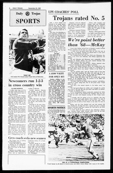 Daily Trojan, Vol. 61, No. 7, September 23, 1969