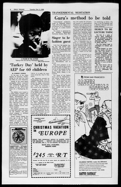 Daily Trojan, Vol. 61, No. 52, December 02, 1969