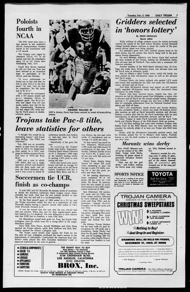 Daily Trojan, Vol. 61, No. 52, December 02, 1969