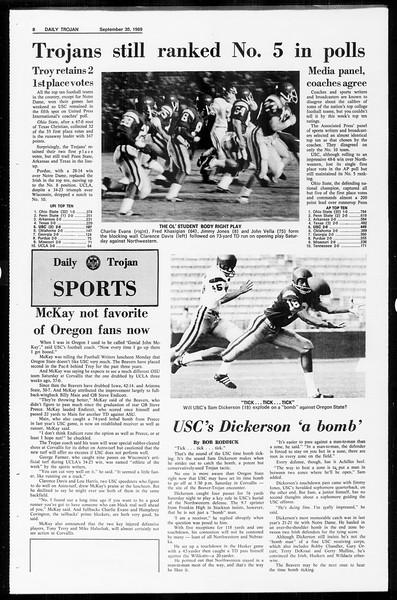 Daily Trojan, Vol. 61, No. 12, September 30, 1969