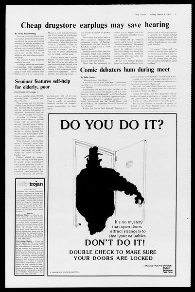 Daily Trojan, Vol. 90, No. 21, March 06, 1981