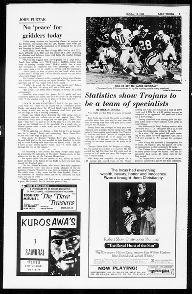 Daily Trojan, Vol. 61, No. 23, October 15, 1969
