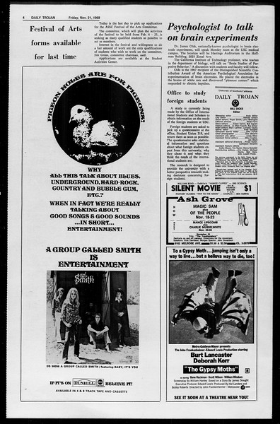 Daily Trojan, Vol. 61, No. 49, November 21, 1969