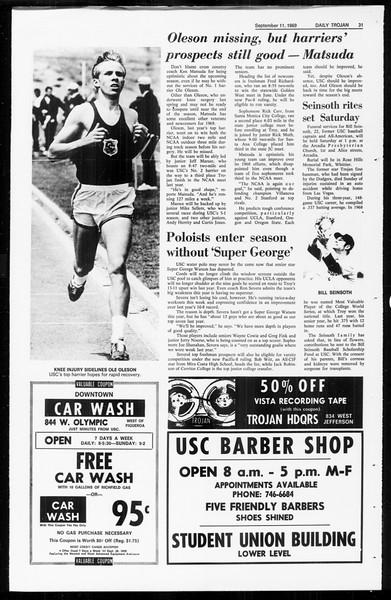 Daily Trojan, Vol. 61, No. 1, September 11, 1969