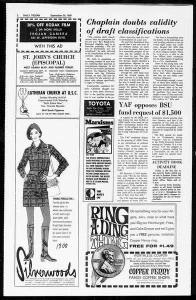 Daily Trojan, Vol. 61, No. 10, September 26, 1969