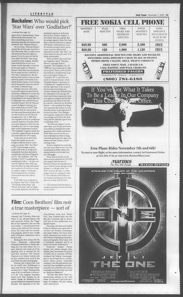 Daily Trojan, Vol. 144, No. 47, November 02, 2001