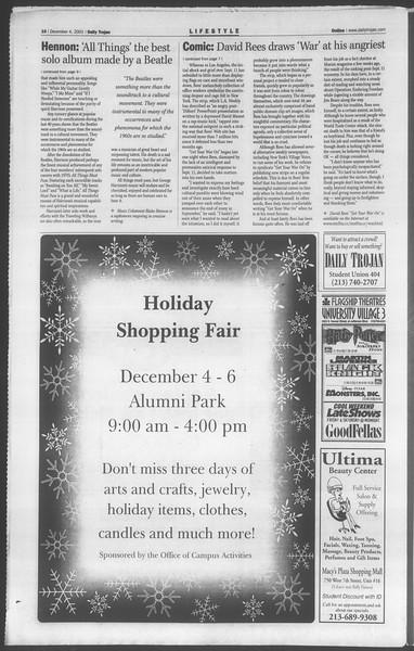 Daily Trojan, Vol. 144, No. 64, December 04, 2001