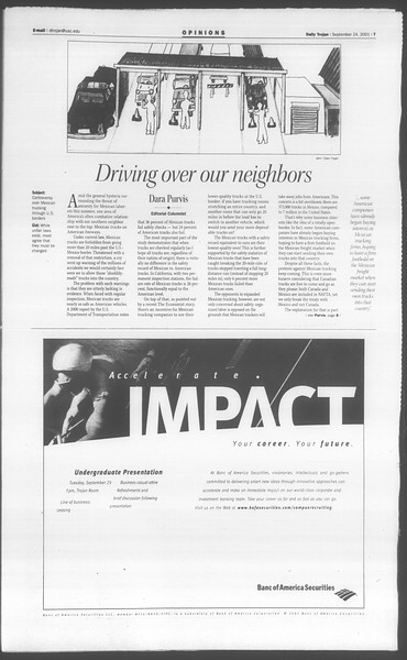 Daily Trojan, Vol. 144, No. 18, September 24, 2001
