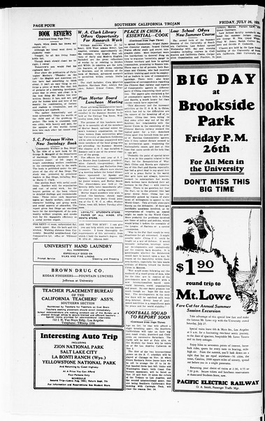 The Southern California Trojan, Vol. 8, No. 8, July 26, 1929