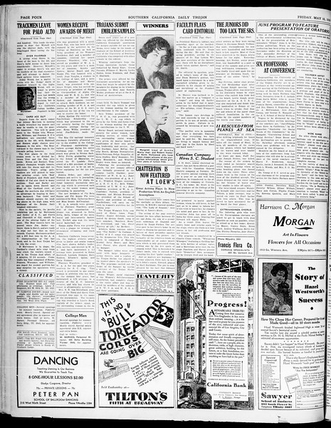 Southern California Daily Trojan, Vol. 21, No. 140, May 16, 1930