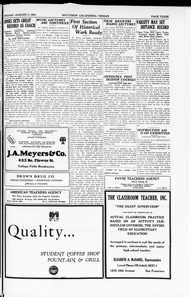 The Southern California Trojan, Vol. 8, No. 10, August 02, 1929