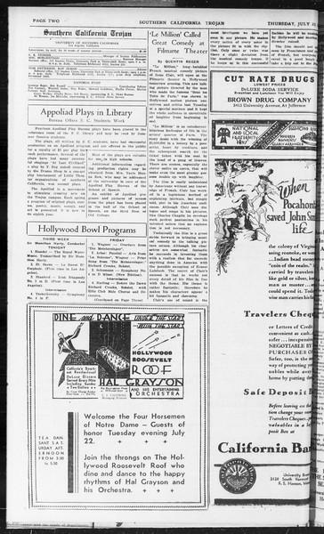Southern California Trojan, Vol. 10, No. 10, July 23, 1931