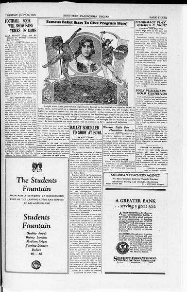 The Southern California Trojan, Vol. 8, No. 9, July 30, 1929