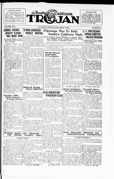 The Southern California Trojan, Vol. 8, No. 10, August 02, 1929