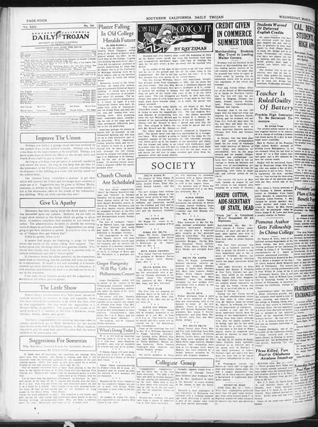 Daily Trojan, Vol. 22, No. 104, March 11, 1931
