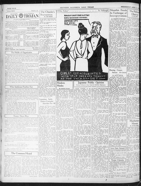 Daily Trojan, Vol. 23, No. 124, April 13, 1932