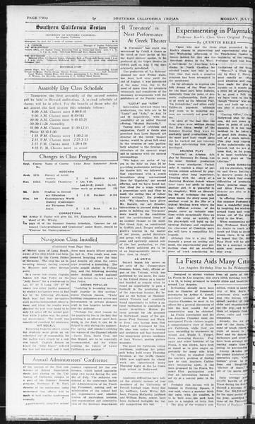 Southern California Trojan, Vol. 10, No. 11, July 27, 1931