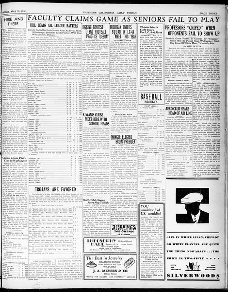 Southern California Daily Trojan, Vol. 21, No. 140, May 16, 1930
