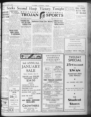 Daily Trojan, Vol. 23, No. 71, January 11, 1932